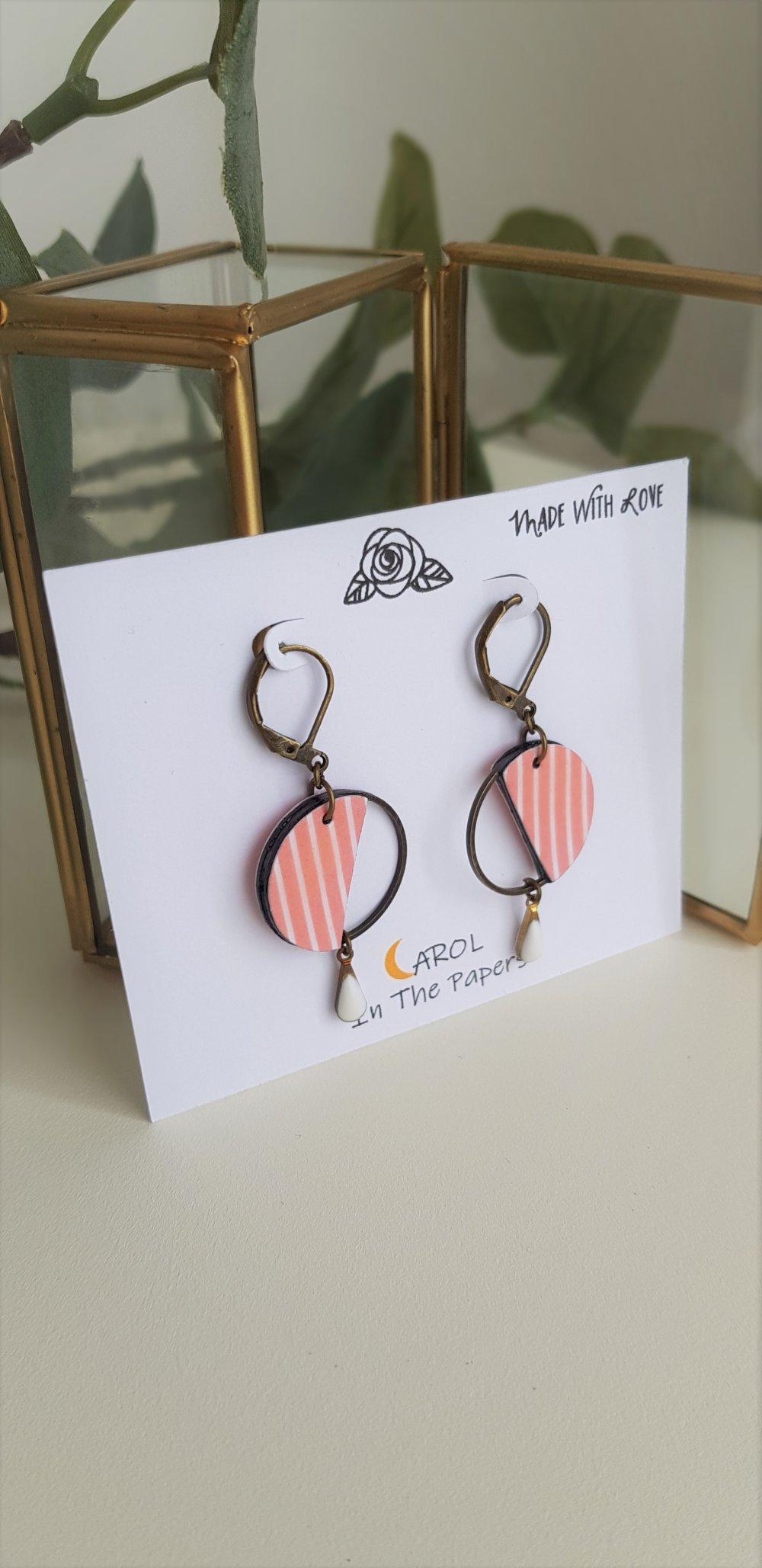 Boucles d'oreilles ~Agate~