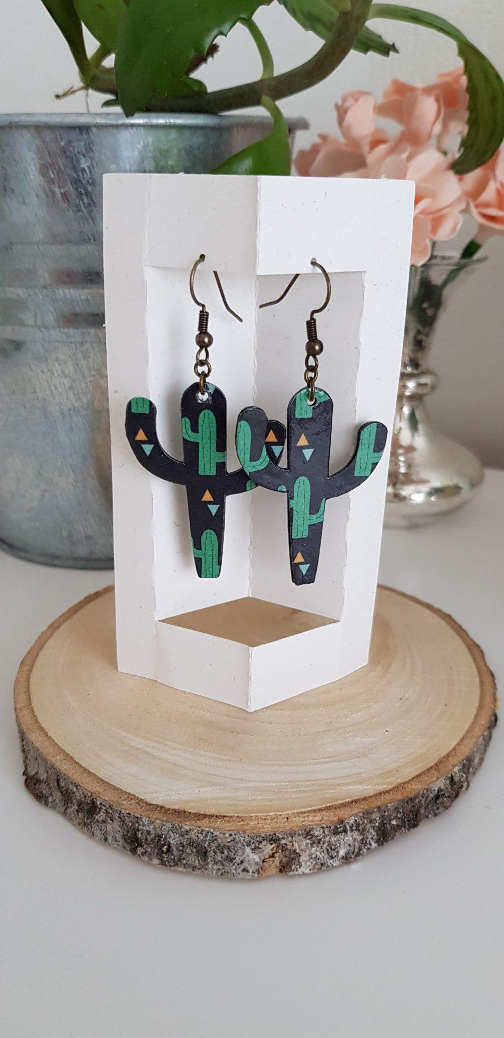 Boucles d'Oreilles ~Cactus~ Collection ~Petite Mexicaine~