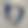 Attache tétine personnalisée en silicone attache doudou personnalisé accroche tutute sucette tétine lilo & stitch, bleu roi et marine