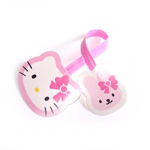 Attaches twist x 10 chaton et lapin en rose et blanc pour fermer vos emballages