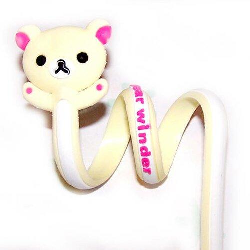 1 attache twist ours blanc et rose pour fermer tout type d'emballages