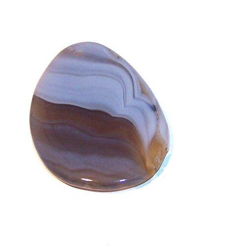 Pendentif en agate forme goutte 53x36 mm pierre de gemme gris (pagr1)