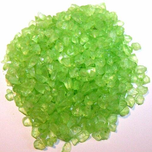 30 g de verre pilé vert anis
