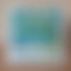 Carte d'anniversaire 20 ans bleue et verte