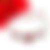 Bracelet fleurs rouge avec des cristaux swarovski siam et light siam
