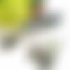 Parure paisley, parure cabochons ovales, parure perles, vert, bleu, noir, fuchsia