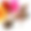 Collier cabochon, collier multicolore, collier perles, pendentif rond 30mm, arbre de vie, multicolore