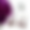 Parure bijoux, parure fleurs, parure cabochon, cristal swarovski, ovale, violet,verre