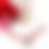 Parure bijoux femme, parure papillon, parure perles, orange, rouge, fuchsia
