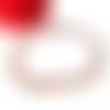 Bracelet coeurs en métal argenté vieilli et perles en agate rouge