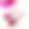 Boucles d'oreilles cabochon, boucles d'oreilles papillon, verre, papillon, perle rose, cristal swarovski, rose
