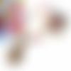 Collier perles, collier multicolore, collier cabochon, ovale, fleurs, perles de bohème, cristal swarovski, noir, rouge, turquoise, topaze