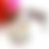 Collier hiboux, collier cabochon, collier perles, cabochon rond verre, perles de bohème, cristal swarovski, blanc, multicolore