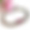 Bracelet gourmette avec des cristaux swarovski rose
