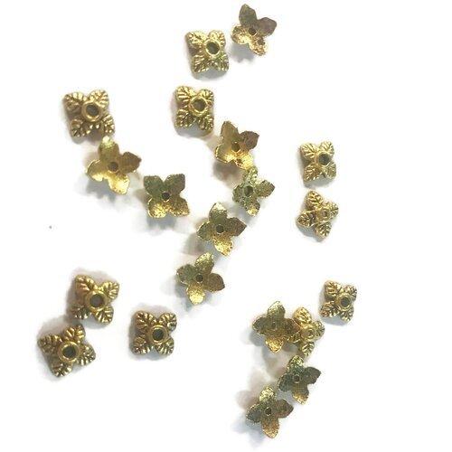 20 coupelles métal doré 6 mm