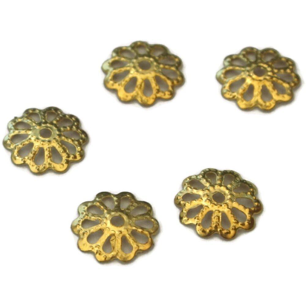 30 Coupelles Calottes doré 8 mm