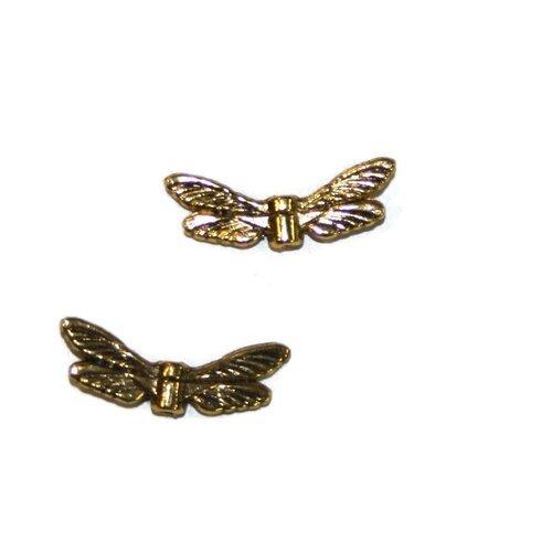 1 perle aile métal dorer