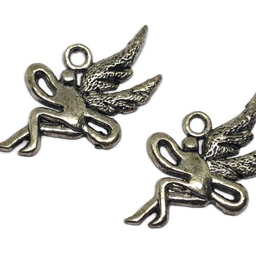Breloque ange métal argenté