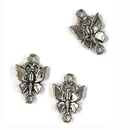 Breloque connecteur papillon
