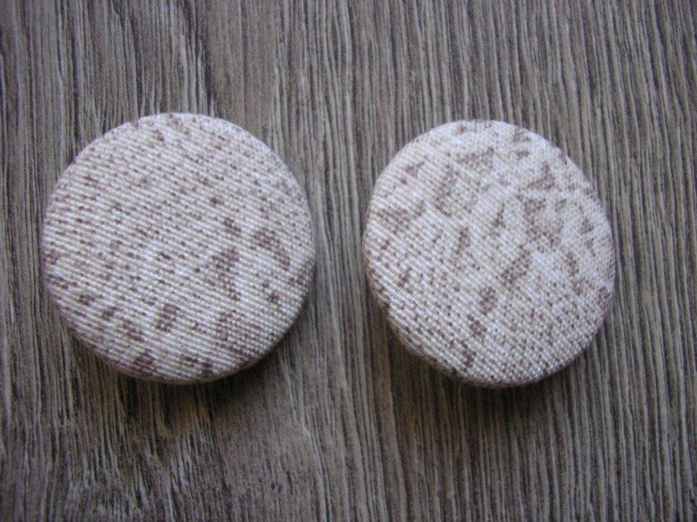 Bouton tissu style dentelle