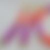 Boucles d'oreilles framboise cassis