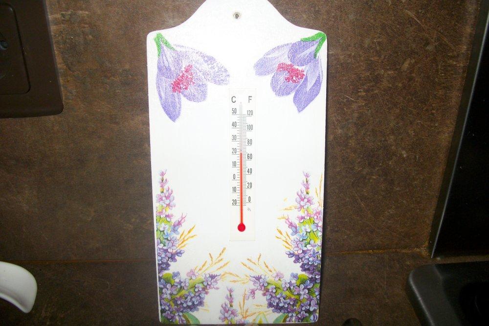 """Thermomètre pour une déco intérieure ,fleurs"""""""
