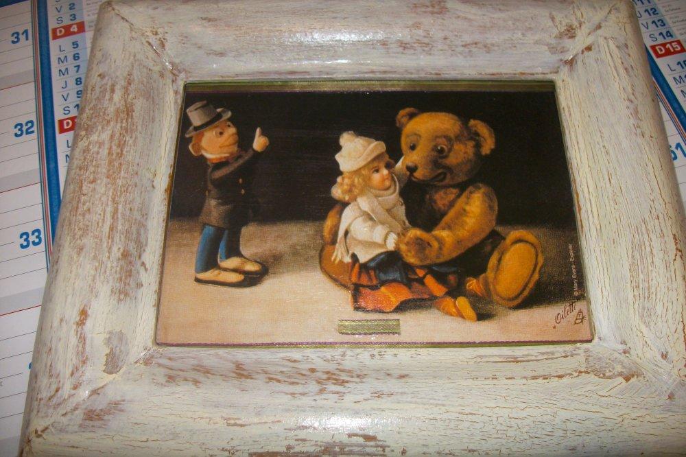 Cadre enfant,ours peluche,