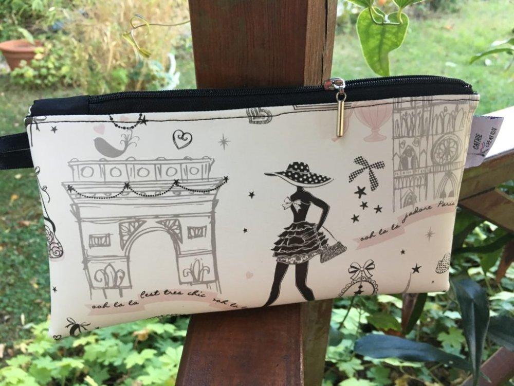 """pochette plastifiée impression """"la parisienne"""""""