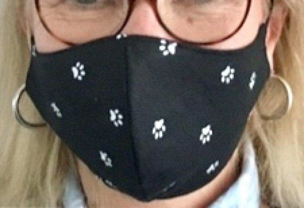 Masque en tissu patte de chat