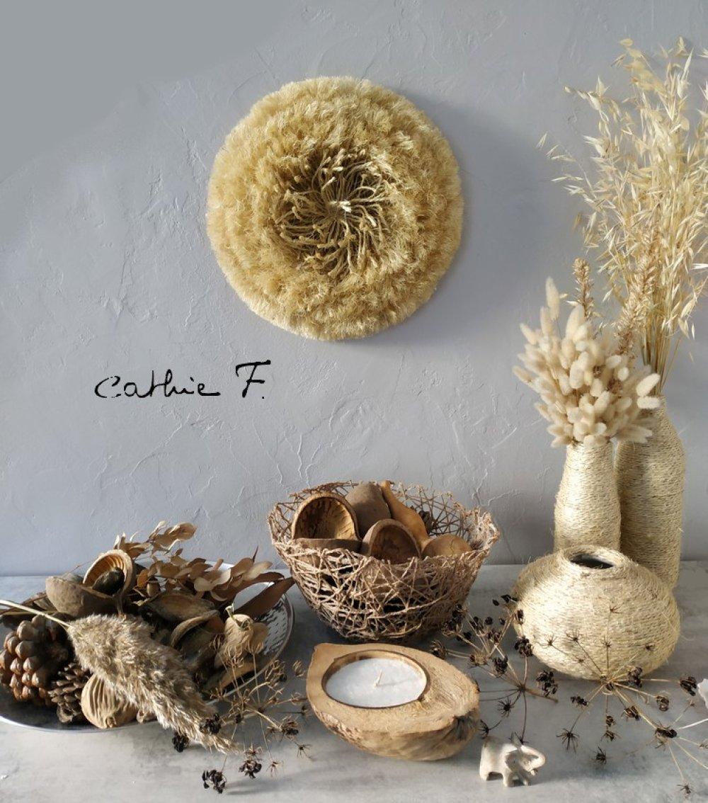 Juju hat fleur 34 cm en fibres
