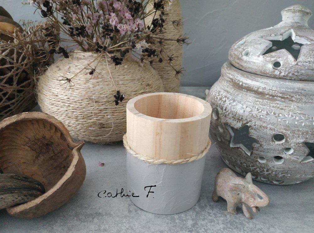 Pot en bois BOHOCHIC