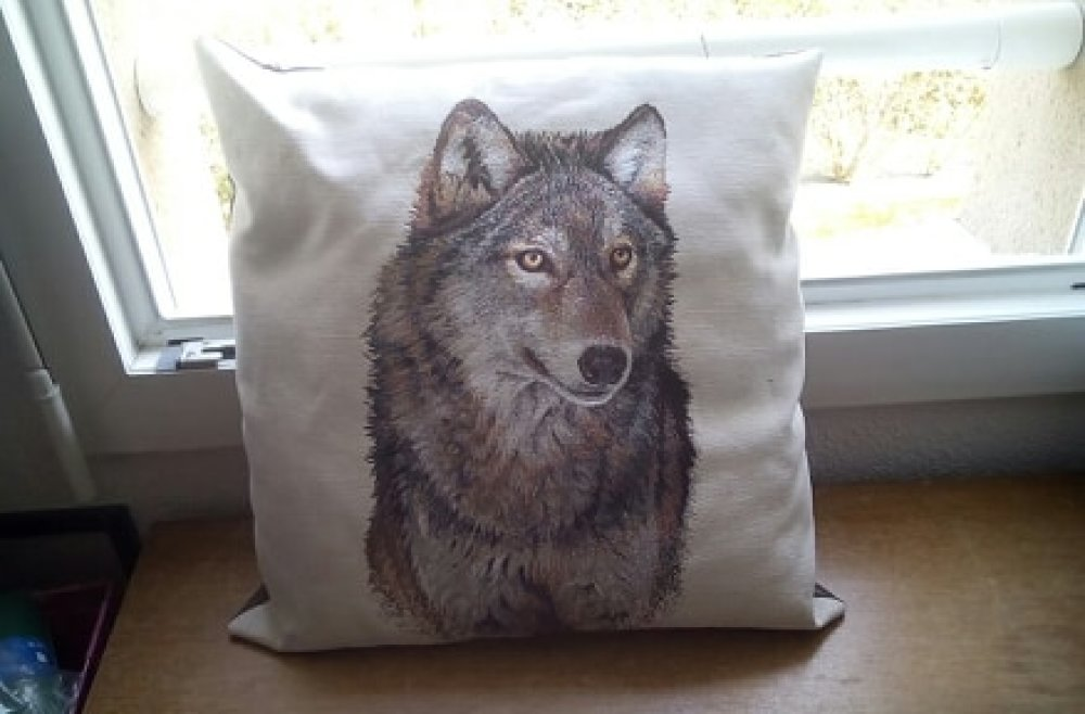 """Coussin """"Loup"""""""