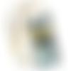 Pochette smartphone jaune et oiseau gris à bandoulière 2 poches