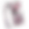 Pochette smartphone fleurs rose taupe en simili cuir avec bandoulière