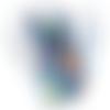 Pochette smartphone simili cuir imprimé ours fond bleu