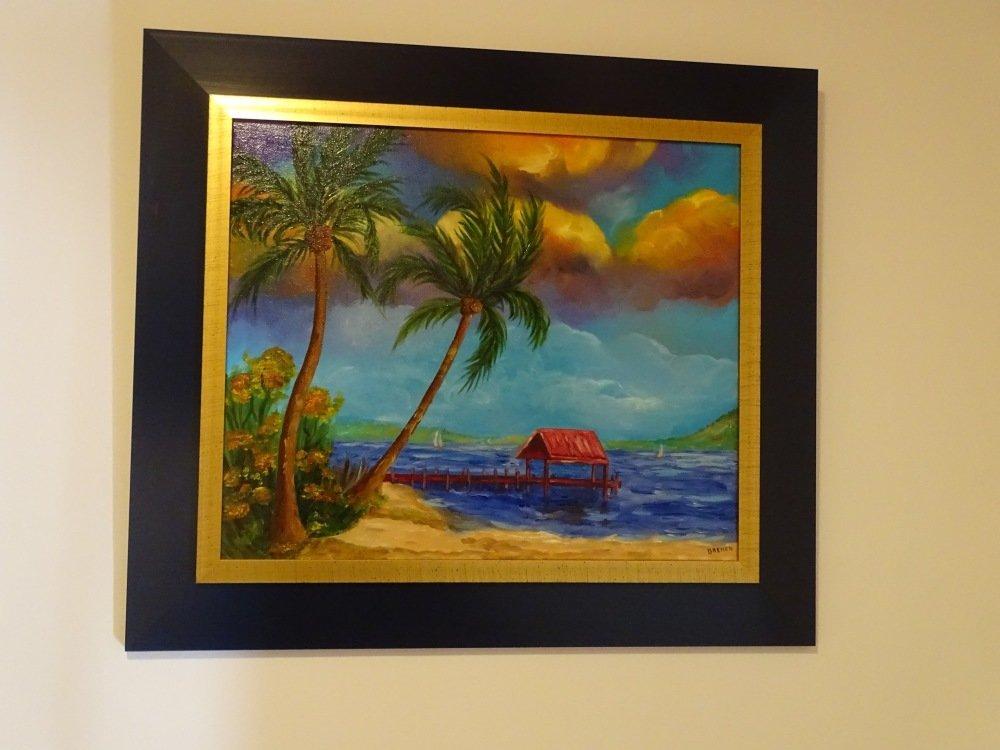 Tableau peinture à l'huile, tropique, tableau tropique, tropical, sur toile, tableau sur toile, Les tropiques