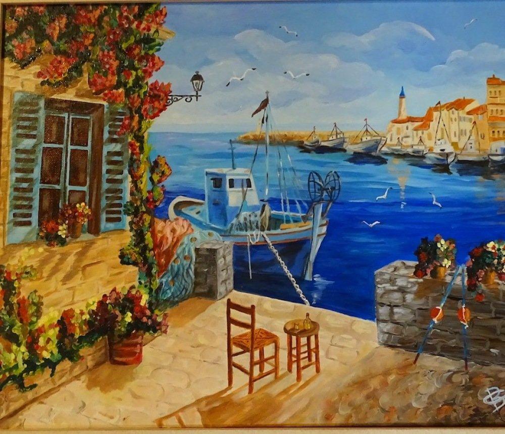 Tableau peinture sur toile, peinture à l'
