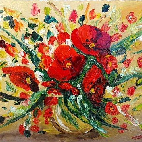 Tableau peinture sur toile à l'huile, tableau