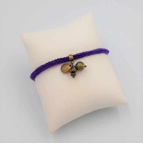 Bracelet violet, goutte