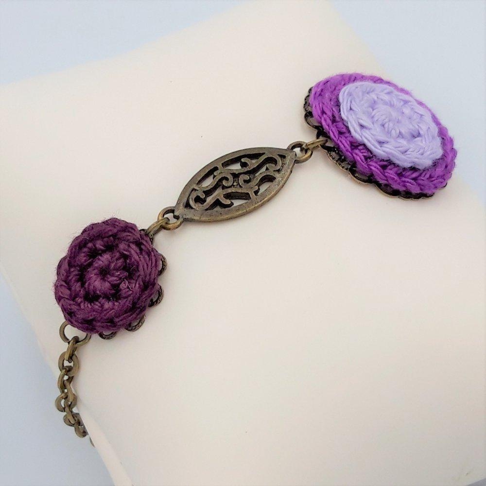 Bracelet arabesque violet