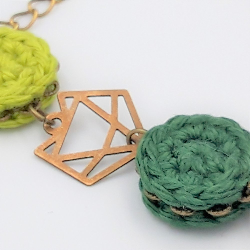 Bracelet vert Renard origami
