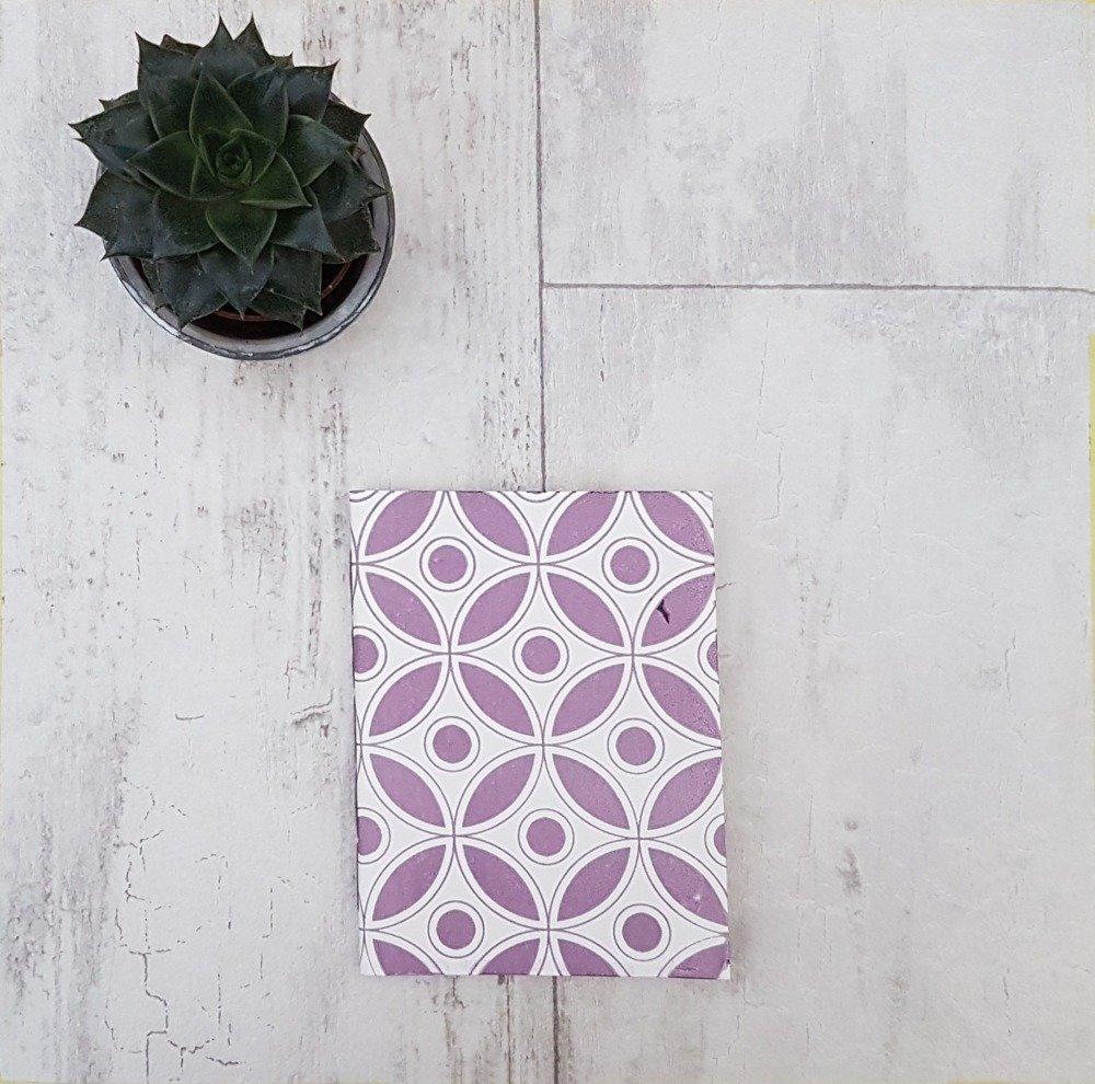 Carnet Motifs Géométriques Floral Mauve