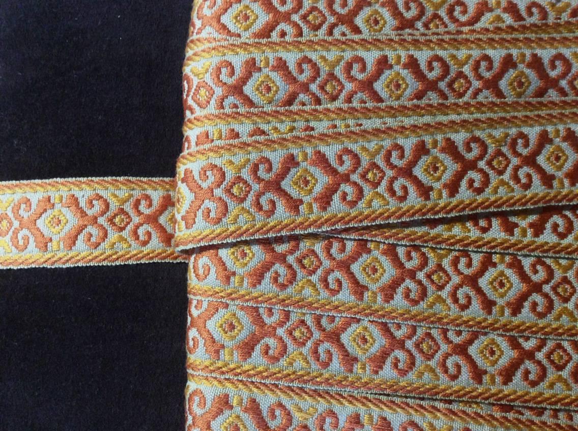 Galon brodé, 4,5cm, passementerie vintage