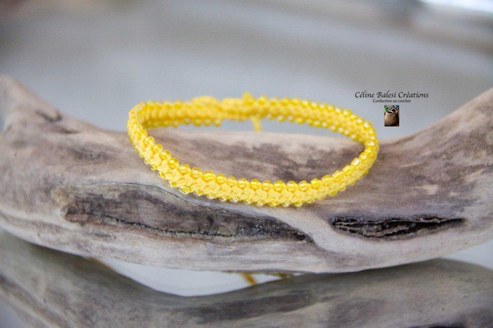 Bracelet cordon Chakra Jaune