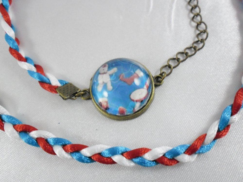 """Bracelet BRONZE queue de rat """" Souvenirs d'enfance """""""