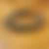 """Bracelet """"mbomela"""" homme ethnique en pierre de gemmes, cuir et métal argenté"""