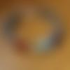 """Bracelet femme """"7 chakras"""" en pierres de gemmes et argent 925"""
