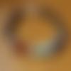 """Bracelet femme """"7 chakras"""" en pierres de gemmes, argent 925 et plaqué argent"""