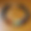 """Bracelet homme """"7 chakras"""" en pierres de gemmes et argent 925"""