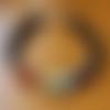 """Bracelet homme """"7 chakras"""" en pierres de gemmes, argent 925 et plaqué argent 925 hq"""